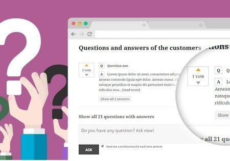 دانلود افزونه ی وردپرس پرسش و پاسخ درباره ی محصولات در ووکامرس