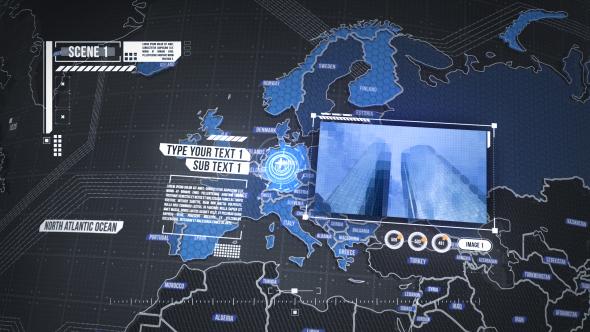 پروژه آماده افترافکت - ویدیو نقشه جهان بخشهای موردنیاز علامتگذاری شدهان